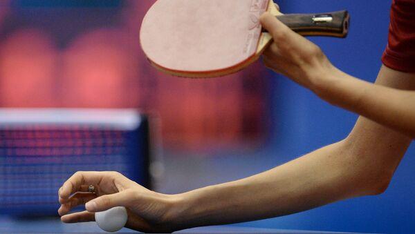 Настольный теннис. Архивное фото.