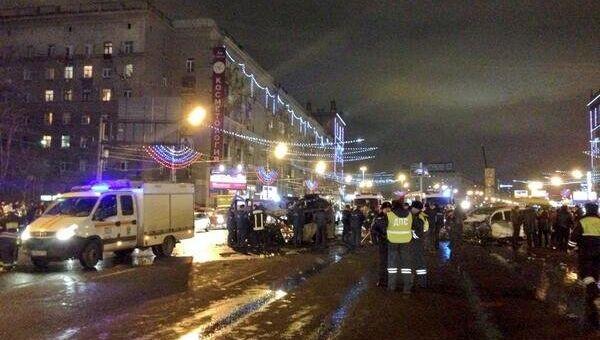 ДТП на Кутузовском проспекте в Москве. Фото с места события