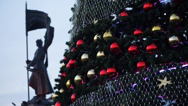 Владивосток в новогоднем наряде