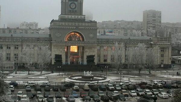 Момент взрыва на вокзале в Волгограде зафиксирован камерой наблюдения