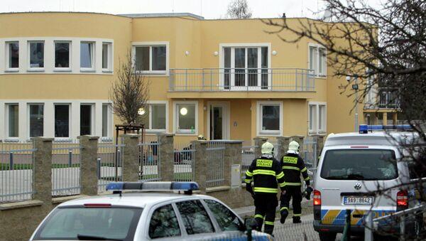 Взрыв в резиденции посла в Праге, фото с места события
