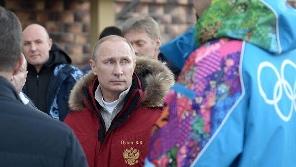 Президент России Владимир Путин во время поездки в Сочи