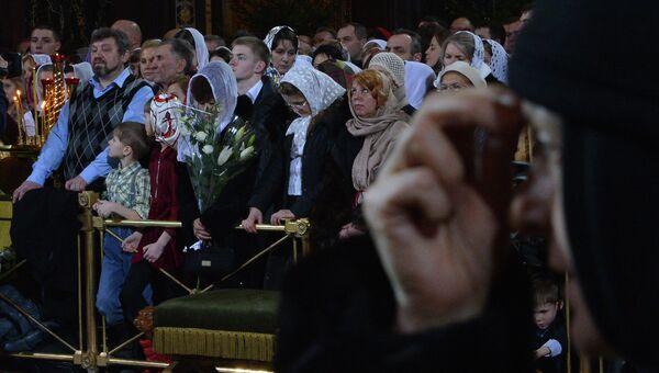 Рождественское богослужение в храме Христа Спасителя. Архивное фото