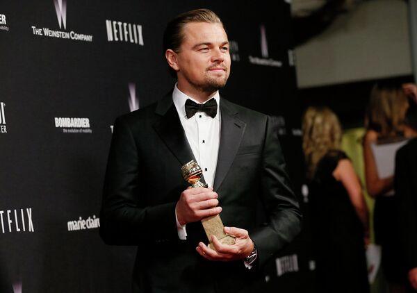 Американский актёр Леонардо Ди Каприо на премии Золотой глобус
