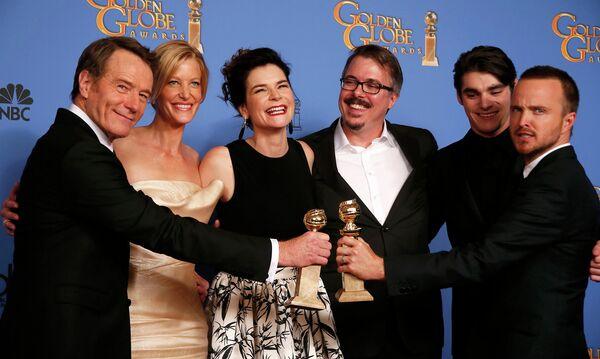 Актерский состав Breaking Bad на премии Золотой глобус