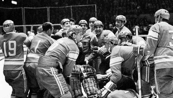 Хоккеисты сборной СССР. Архивное фото