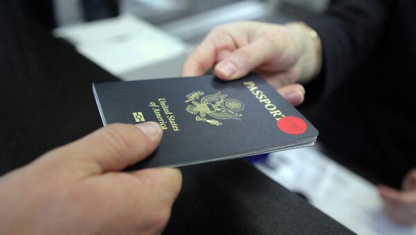 Паспорт гражданина США, архивное фото