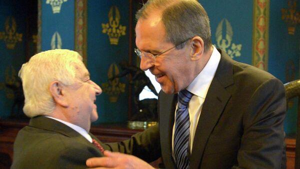 Встреча глав МИД России, Сирии и Ирана С.Лаврова, В.Муаллема и Д.Зарифа