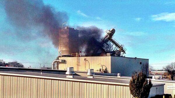На месте взрыва на заводе в Омахе, США