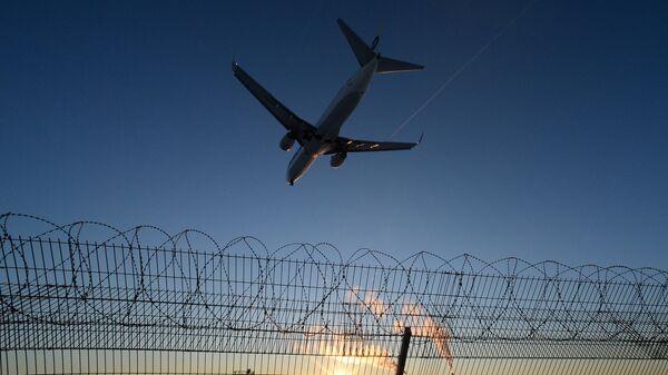 Самолет во время посадки