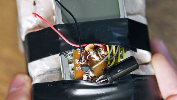 Самодельное взрывное устройство, архивное фото