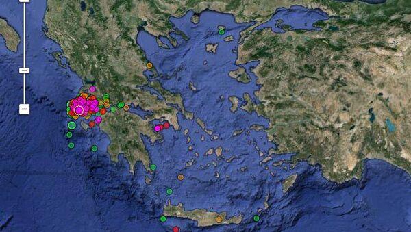 Сейсмическая активность в Афинах
