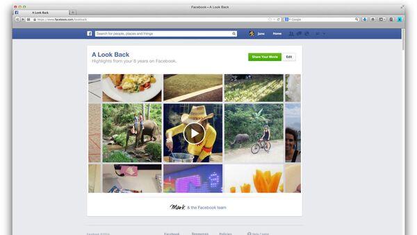 Сервис A Look Back в Facebook
