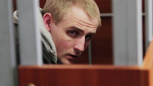 Обвиняемый в убийстве псковского священника Сергей Пчелинцев в зале суда. Архивное фото