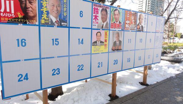 Выборы губернатора Токио, фото с места событий