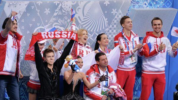 Олимпиада 2014. Фигурное катание. Команды. Танцы на льду. Произвольная программа