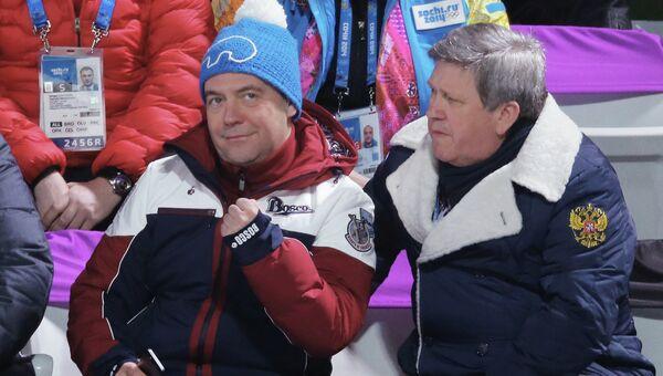 Д.Медведев посетил соревнования по прыжкам с трамплина