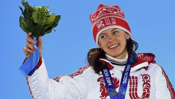 Российская биатлонистка Ольга Вилухина. Архивное фото