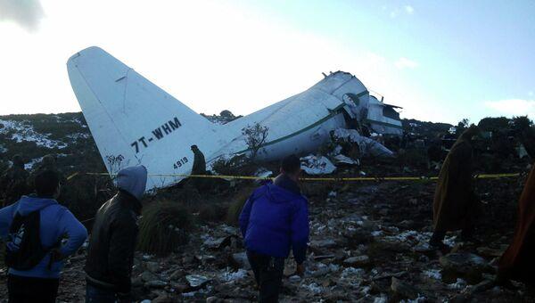 Авиакатастрофа в Алжире, фото с места события