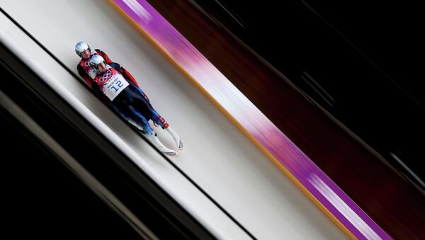 Александр Денисьев и Владислав Антонов (Россия) на соревнованиях двоек. Архивное фото