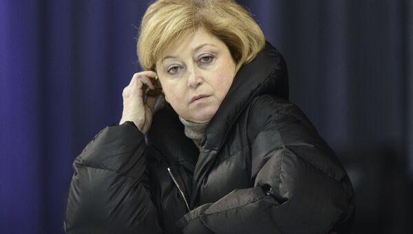 Российский тренер Елена Буянова на тренировке