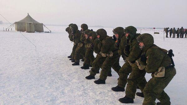 Момент учений новосибирского спецназа