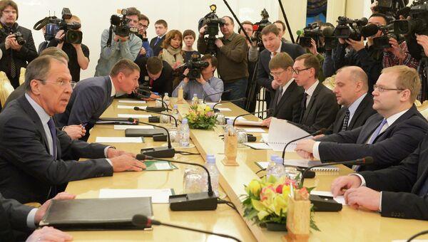 Встреча министров иностранных дел России и Эстонии