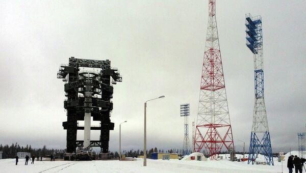 Макет ракетного комплекса Ангара на космодроме Плесецк. Архивное фото