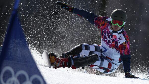 ... Вик Уайлд (Россия) в финале параллельного гигантского слалома 340c5870346