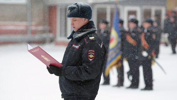 Присяга в Центре профподготовки ГУМВД по Новосибирской области, событийное фото