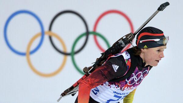 Эви Захенбахер-Штеле (Германия) на XXII зимних Олимпийских играх в Сочи