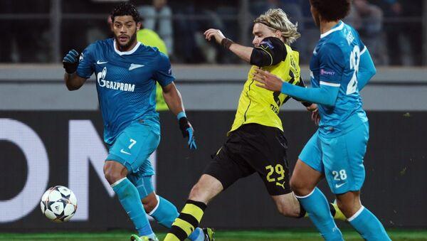 Футбол зенит боруссия сче