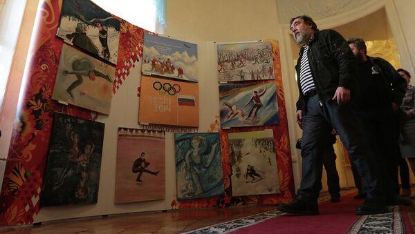 Открытие выставки новых работ группы Митьки. Архивное фото
