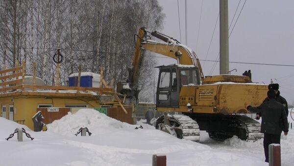Снос шашлычной Гоар близ Томска