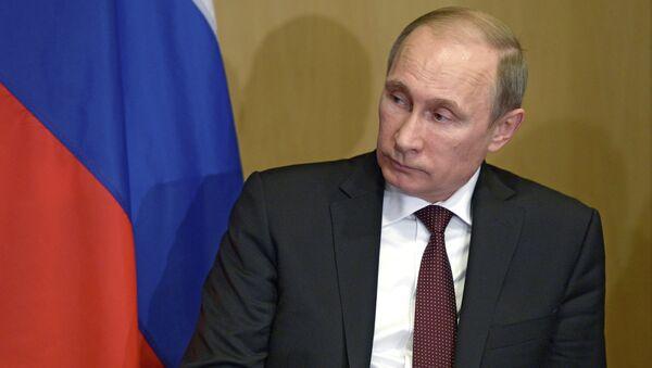 Президент России Владимир Путин во время встречи с премьер-министром Греческой республики Антонисом Самарасом