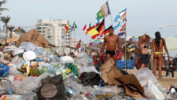 Забастовка мусорщиков в Рио-де-Жанейро, фото с места события