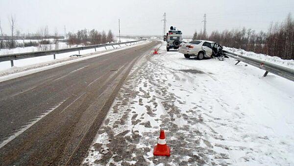 ДТП на трассе в Томской области, событийное фото