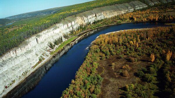 Один из притоков реки Лены