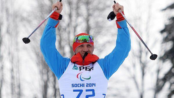 Российский спортсмен Роман Петушков на XI Паралимпийских зимних играх в Сочи