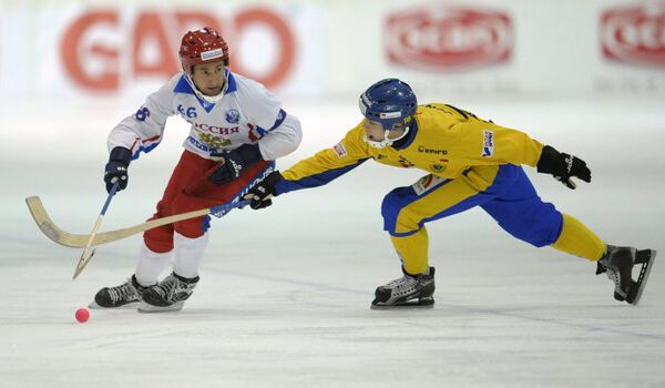Чемпионат мира по хоккею с мячом Россия - Швеция 5:6