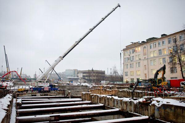 С.Собянин на строительной площадке Алабяно-Балтийского тоннеля