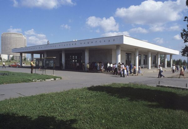 Наземный вестибюль станции метро Каширская