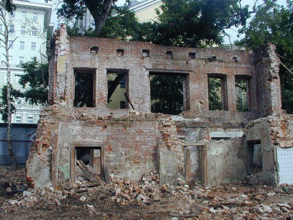 Москва, Ректорский дом на Моховой улице, снос