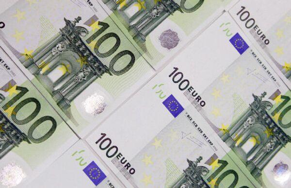 Денежные купюры. Евро.