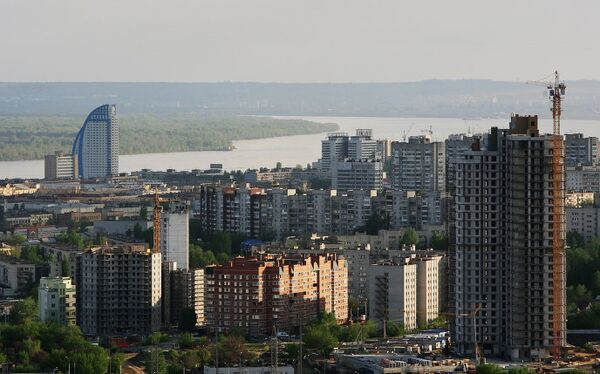 Виды Волгоград река Волга высотки новостройки жилье жилые дома