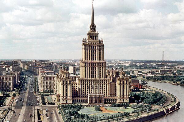Кутузовский проспект и гостиница Украина в Москве