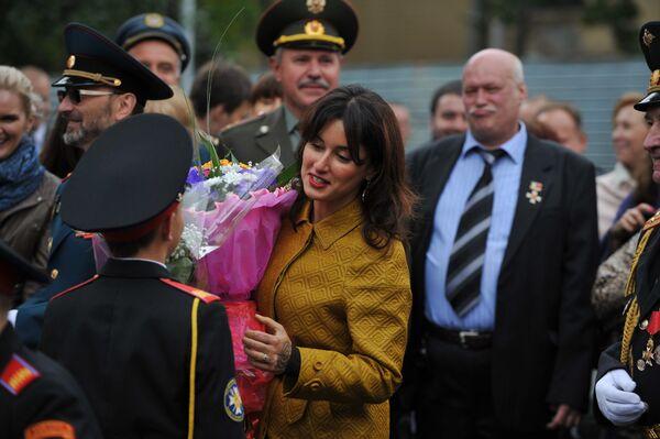 Тина Канделаки на открытии первого Московского Кадетского корпуса