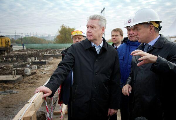 С.Собянин посетил строящийся первый корпус электродепо Братеево