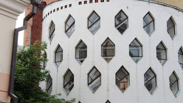 Одноквартирный жилой дом в Кривоарбатском переулке. Архитектор Константин Мельников.