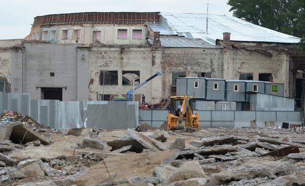 Снос ценных элементов Кругового депо в Москве